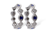 A055-55372: EARRINGS .20 SAPP .25 TGW