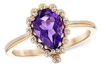 A243-77254: LDS RING 1.06 CT AMETHYST