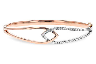 F243-80899: BANGLE BRACELET .50 TW (ROSE & WG)